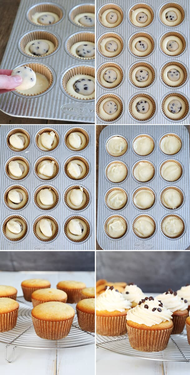 Gluten Free Cookie Dough Cupcakes—Step by Step