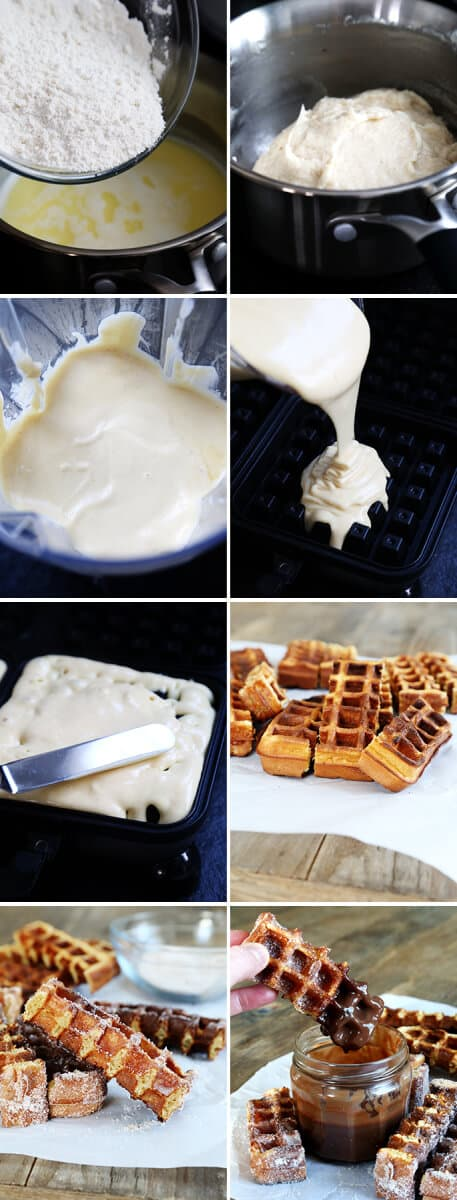 Gluten Free Waffle Churros, Step by Step