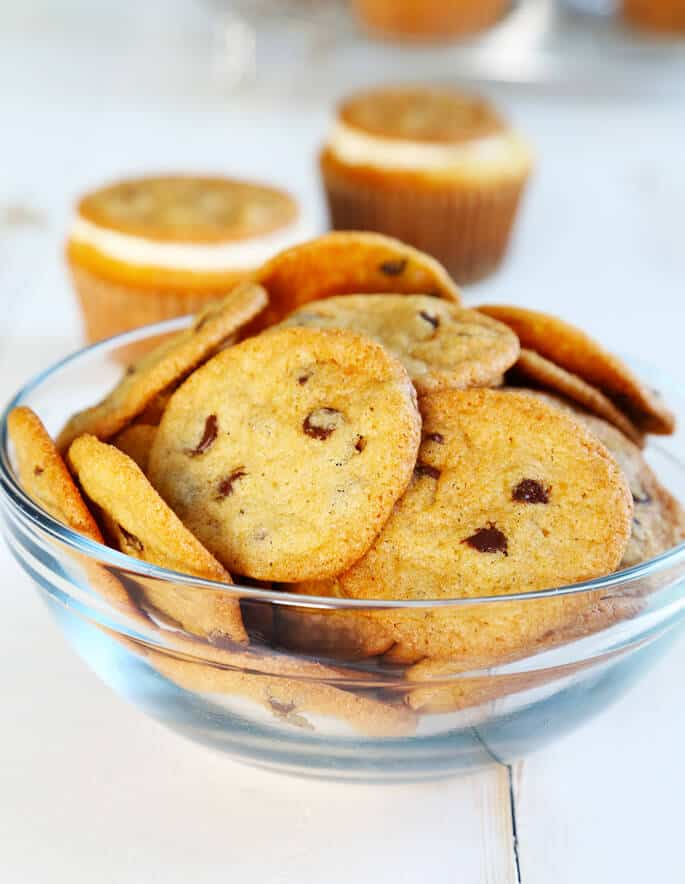 Gluten Free Cookie Chips—for Gluten Free Cookie Dough Cupcakes
