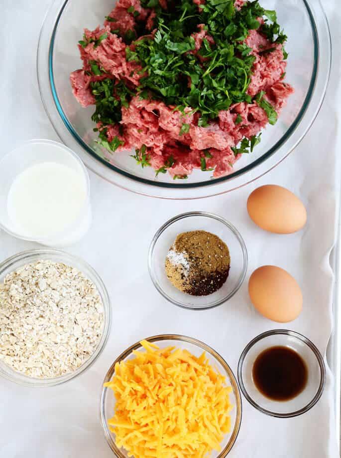 Gluten Free Miniature Meatloaves ingredients