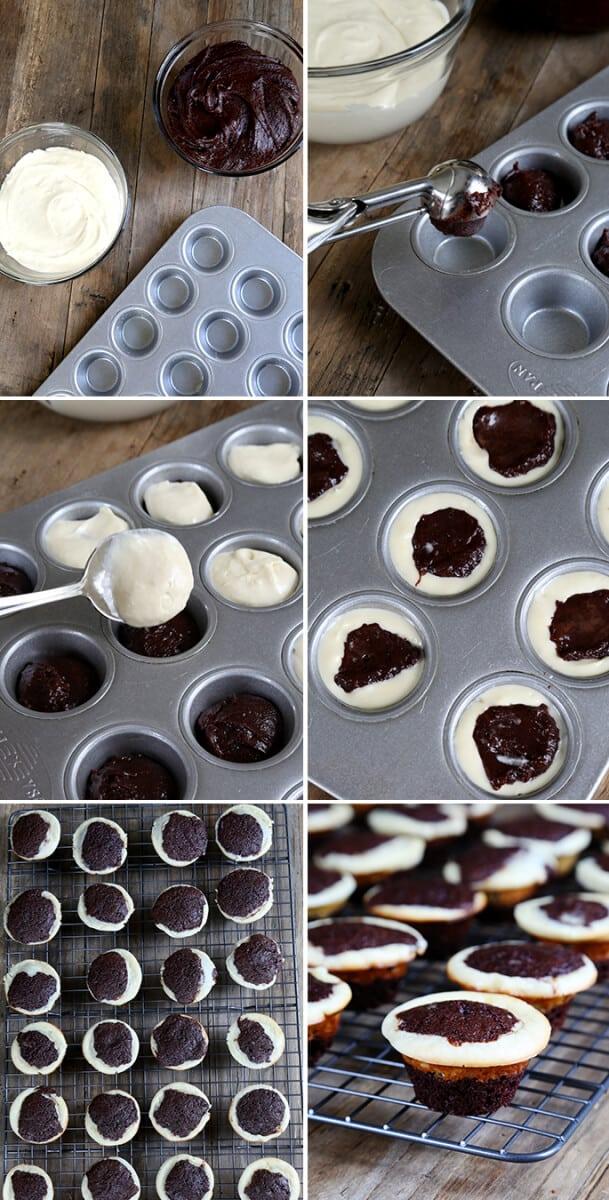 Gluten Free Cheesecake Brownie Bites, Step by Step