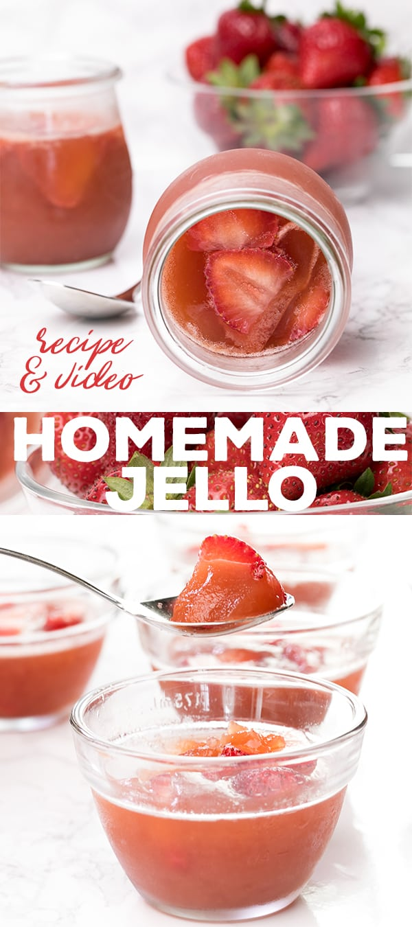 Ditch the box, and make homemade jello style gelatin at home. So easy, with only a few ingredients—and it's actually good for you.