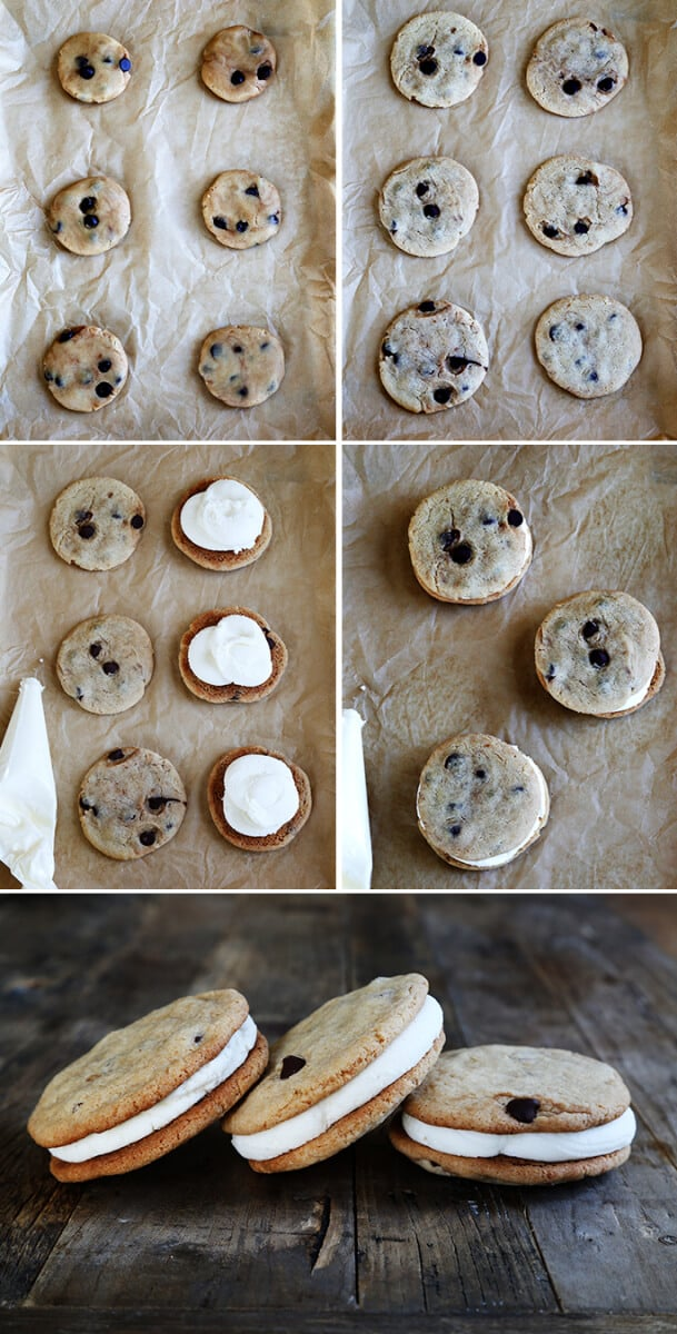 Little Debbie-Style Gluten Free Chocolate Chip Creme Pies, Step by Step