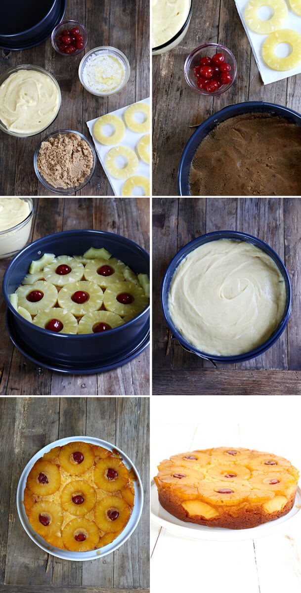 Gluten Free Pineapple Upside Down Cake, Step by Step