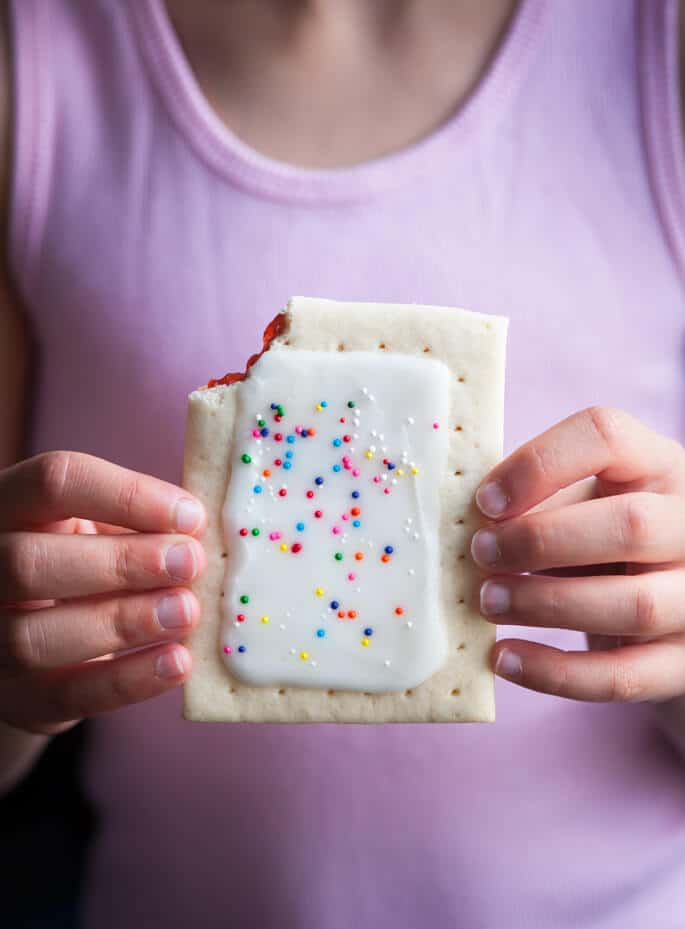 Gluten Free Classic Snacks: Pop Tart-Style Strawberry Frosted Toaster Pastries