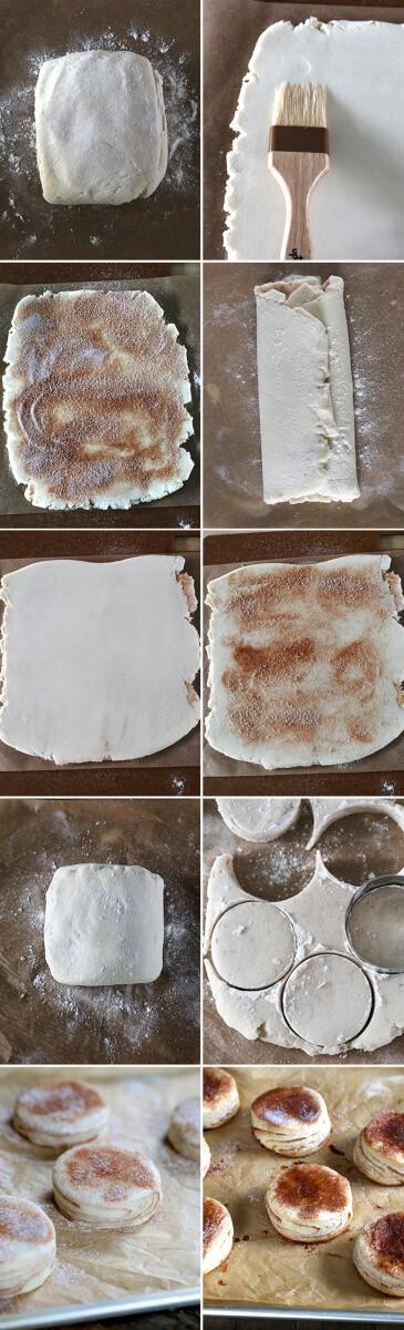 Gluten Free Cinnamon Sugar Biscuits, Step by Step