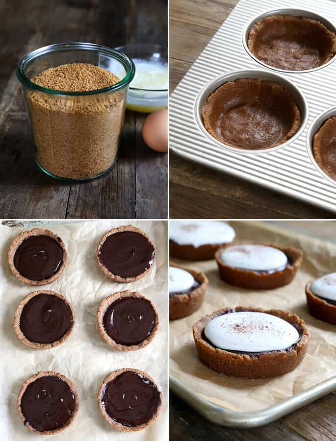 Easy Gluten Free Miniature S'mores Pies, Step by Step