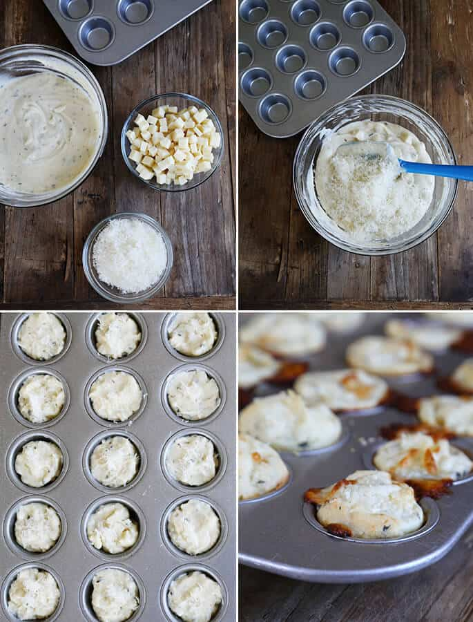 These soft, flavorful gluten free pizza bites are ready for the oven in minutes. Add some pepperoni, or switch up the spices to suit your tastes. Make them your own!