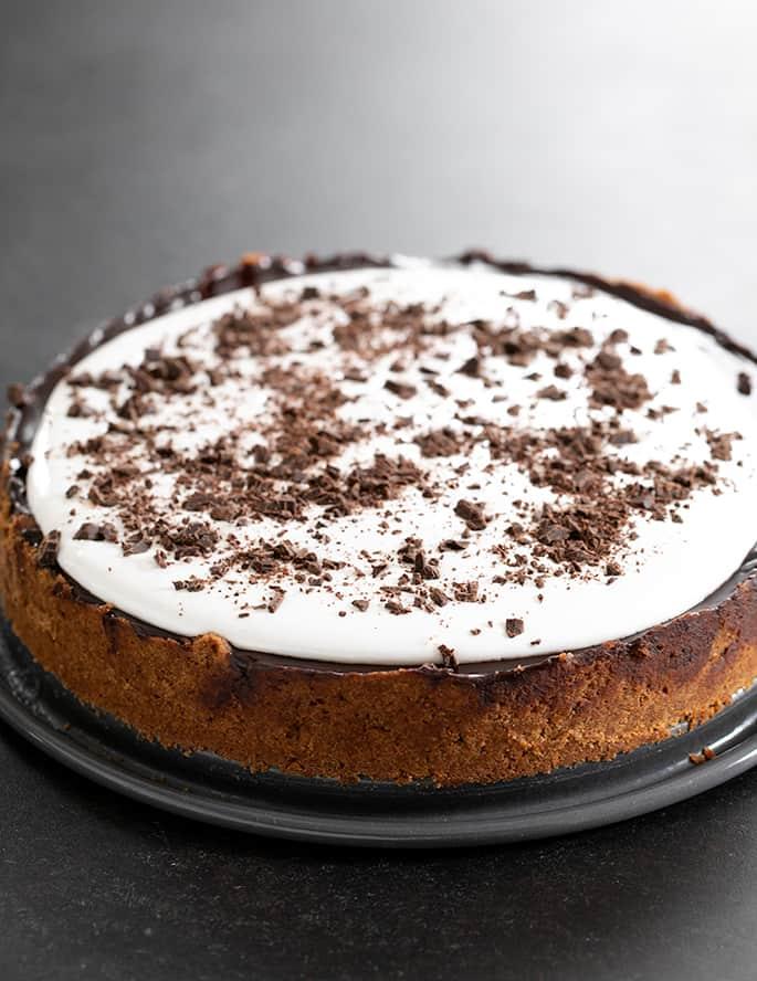 whole uncut gluten free s'mores pie