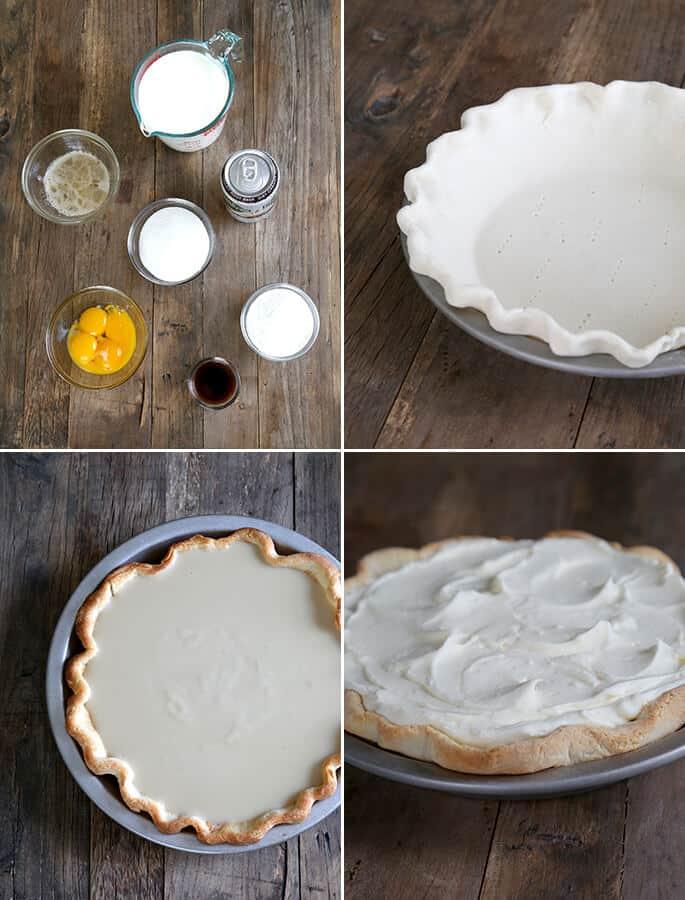 Gluten Free Root Beer Float Pie, step by step