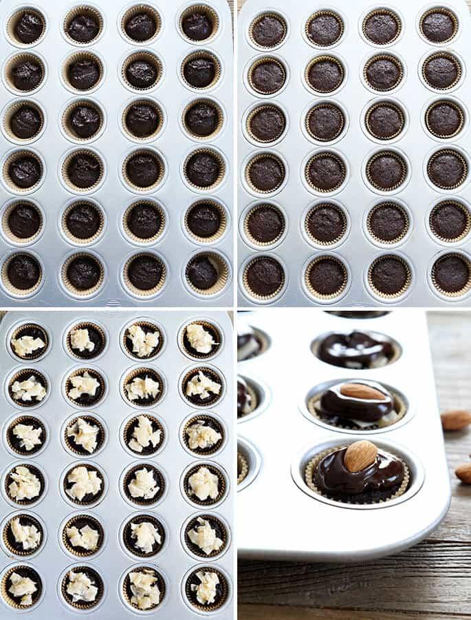 "Gluten Free ""Almond Joy"" Brownie Bites, Step by Step"