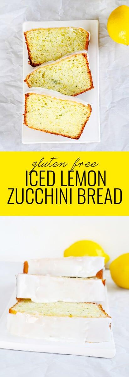 Iced Gluten Free Lemon Zucchini Bread