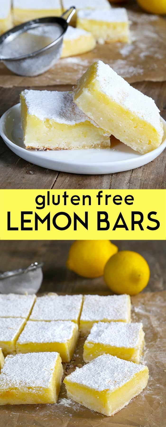 Two lemon bars on a small plate