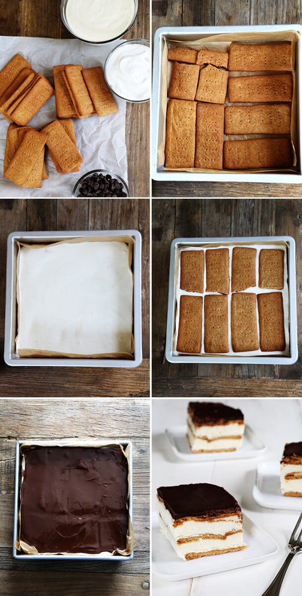 No Bake Gluten Free Chocolate Eclair Cake, Step by Step