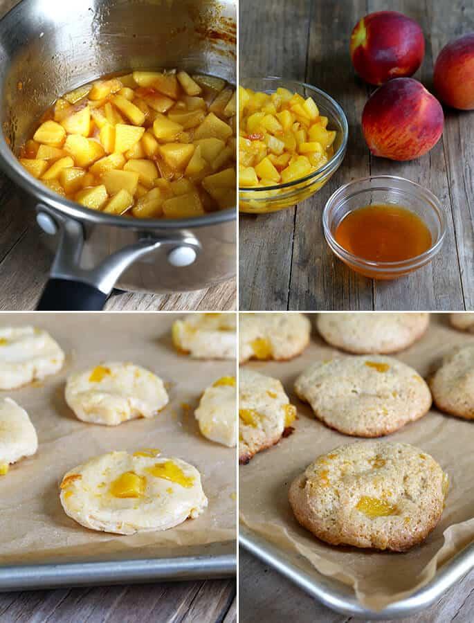 Gluten Free Peach Pie Cookies, Step by Step