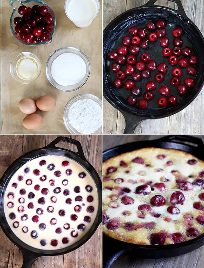 Gluten Free Cherry Clafoutis, Step by Step