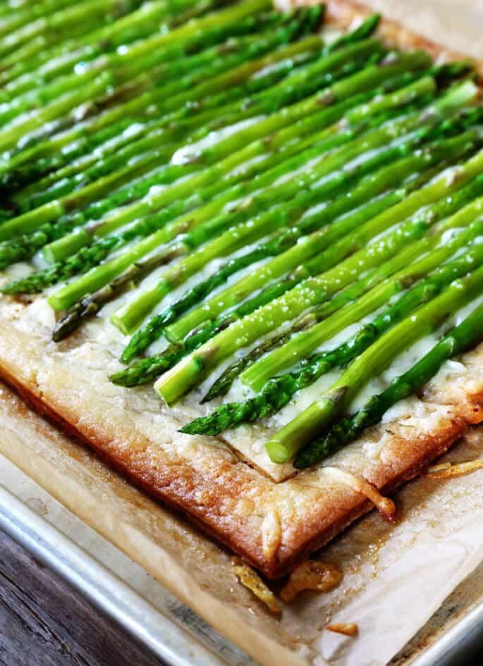 Easy Gluten Free Asparagus Tart