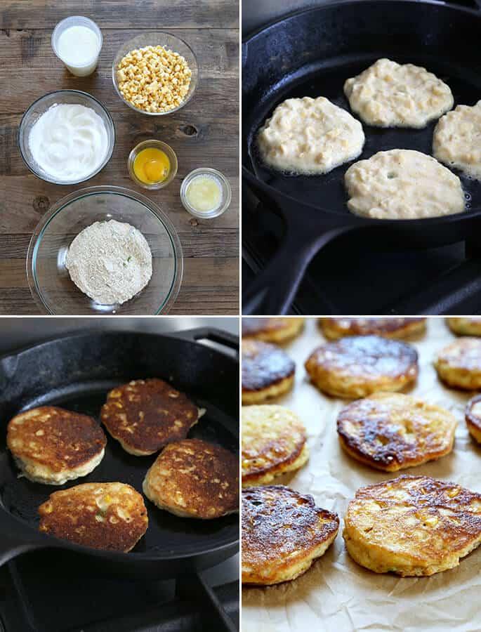 Fresh Savory Gluten Free Corn Cakes, Step by Step