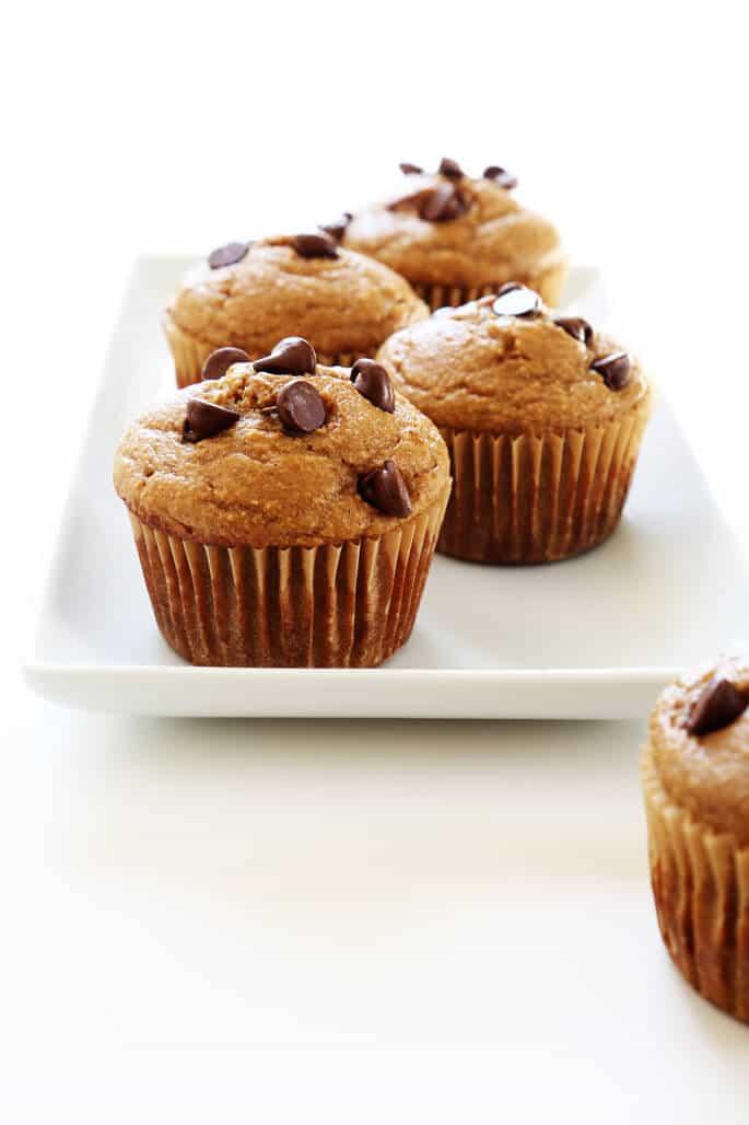 Healthy Gluten Free Banana Breakfast Muffins. https://glutenfreeonashoestring.com/