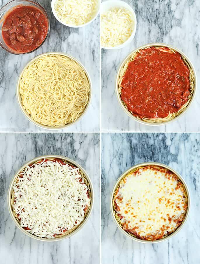 Gluten Free Spaghetti Pie, Step by Easy Step