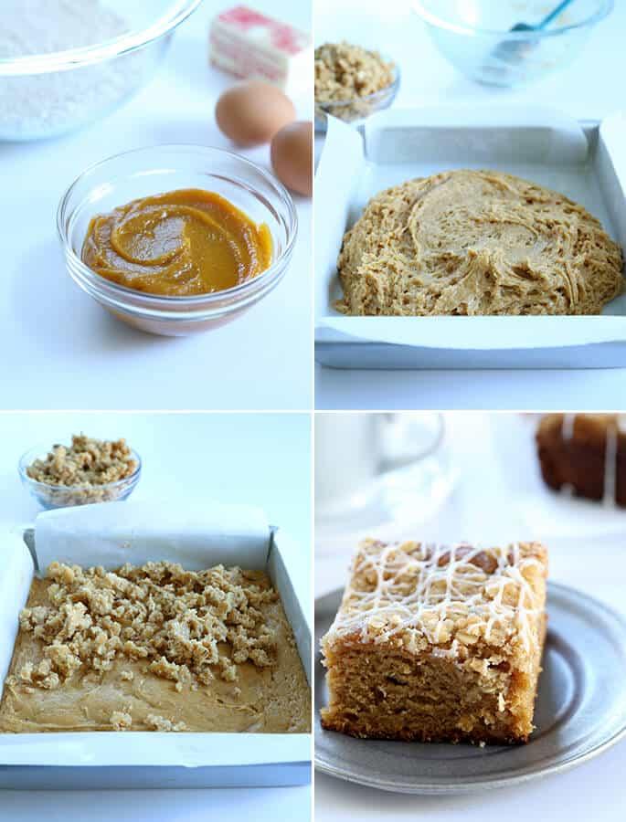 Tasty and Tender Gluten Free Pumpkin Coffee Cake, Step by Step