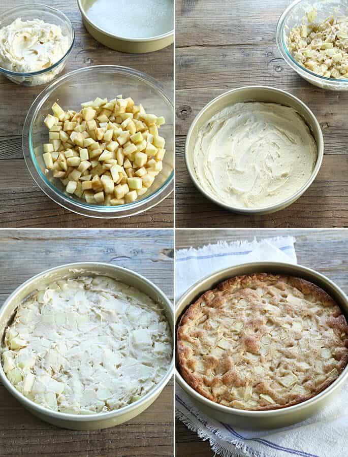 Tender Gluten Free Apple Cake, Step by Step