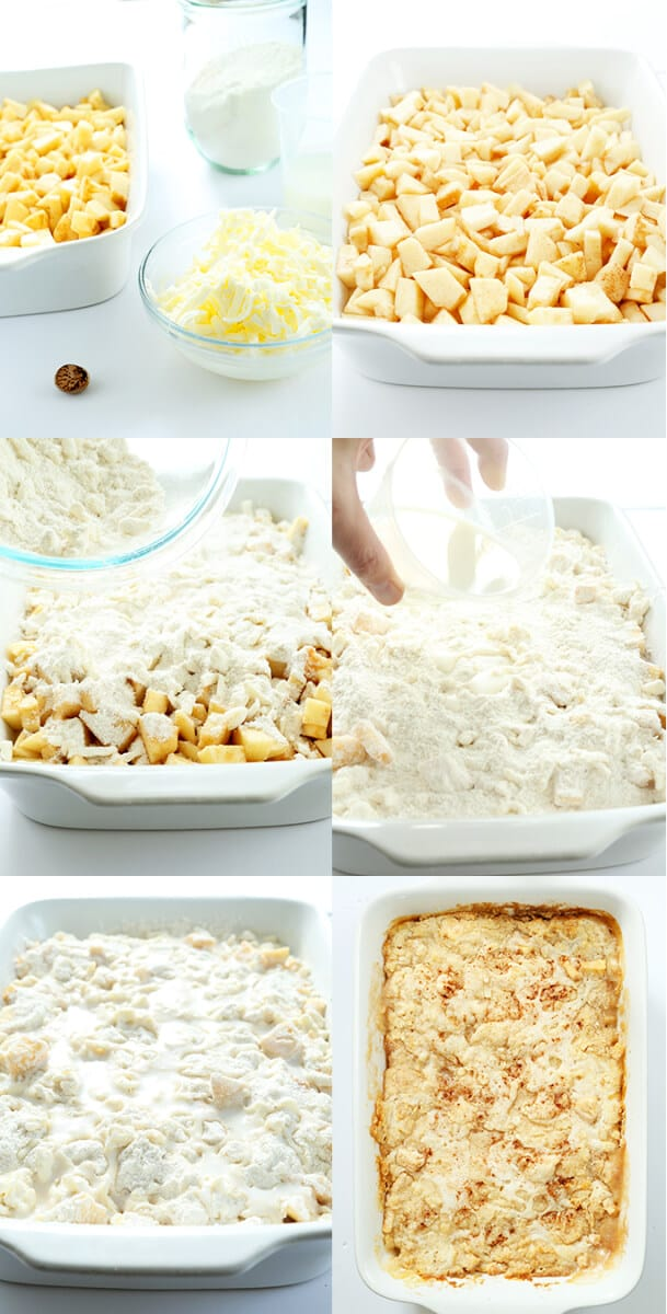 """Quick and Easy Gluten Free Apple """"Dump"""" Cake, Step by Step"""