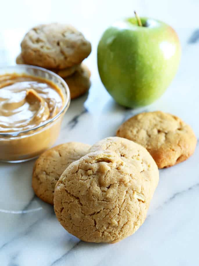 Thick and Chewy Gluten Free Apple Peanut Butter Cookies