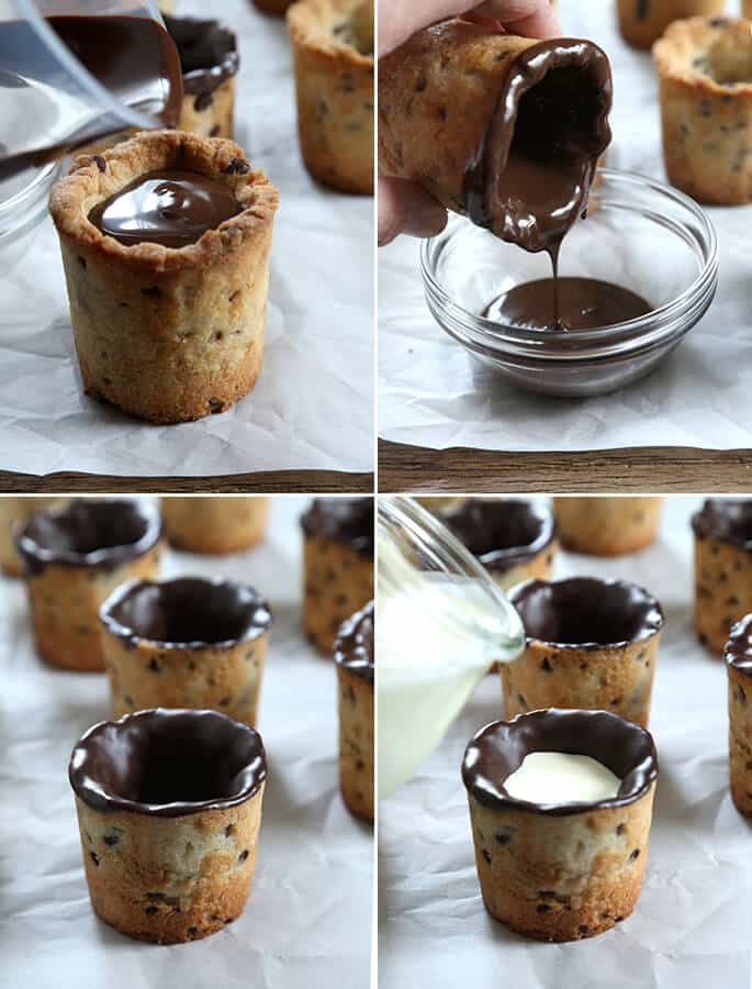 Finishing Gluten Free Milk and Cookie Shots, Step by Step