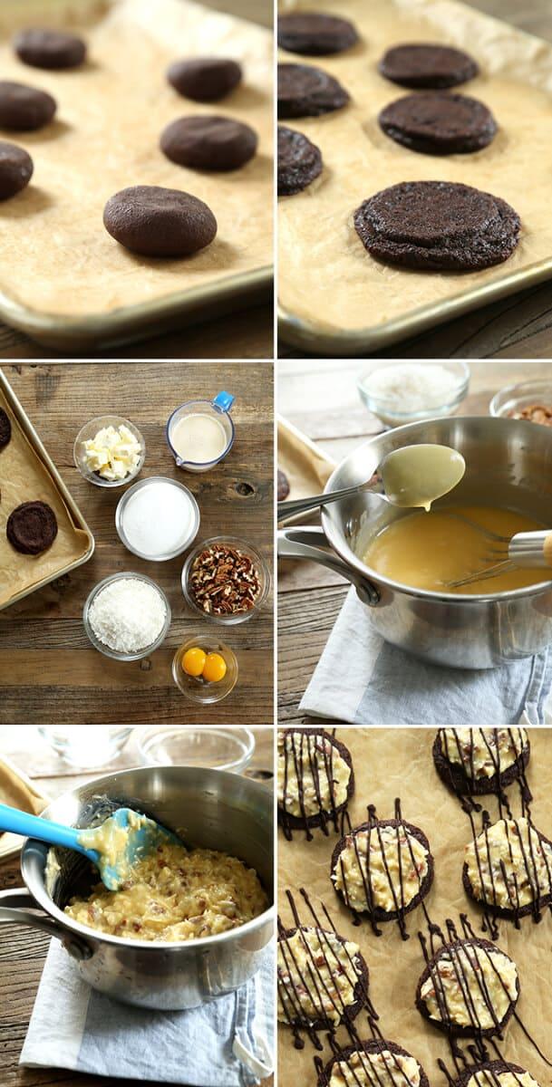 Gluten Free German Chocolate Cake Cookies, Step by Step