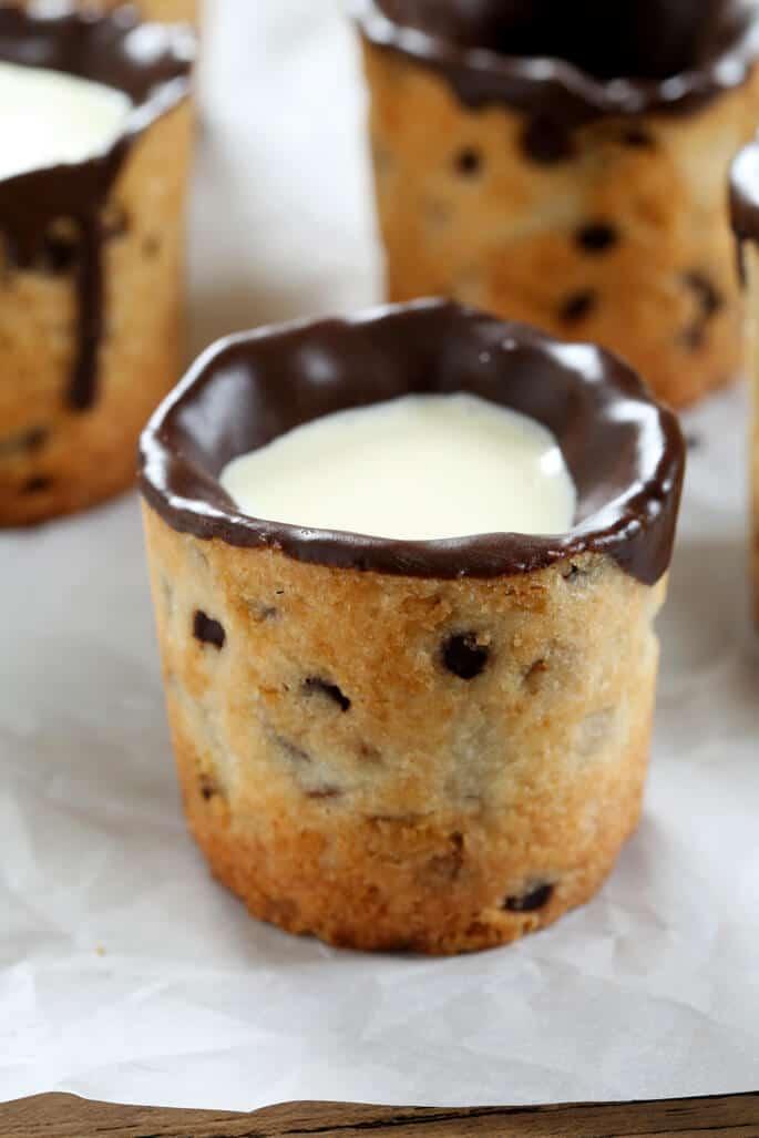 Gluten Free Milk and Cookie Shots