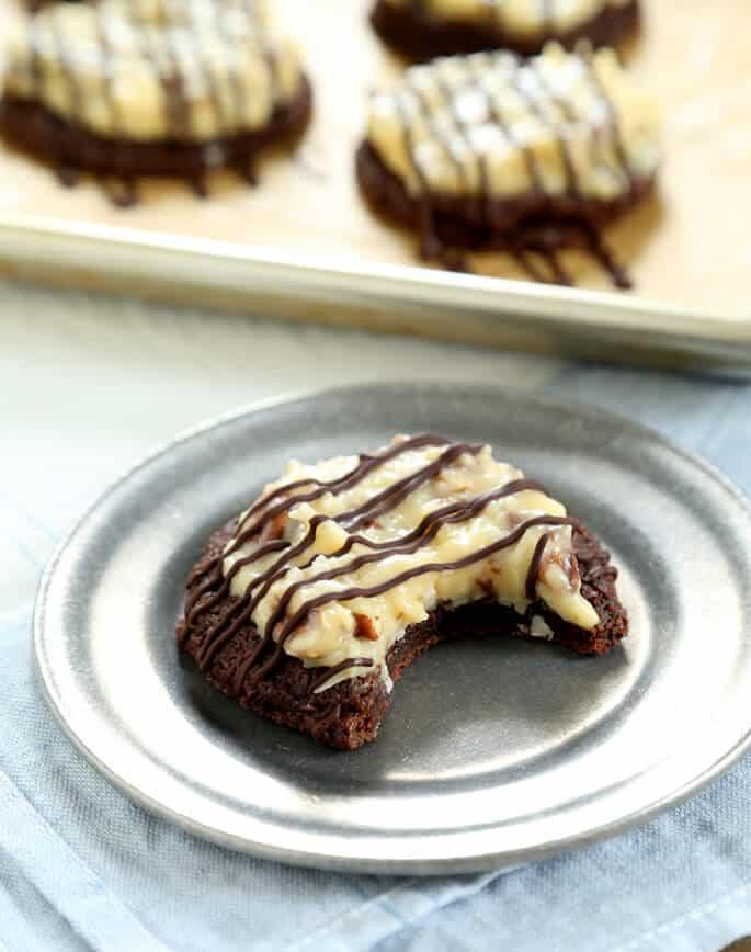 Gluten Free German Chocolate Cake Cookies