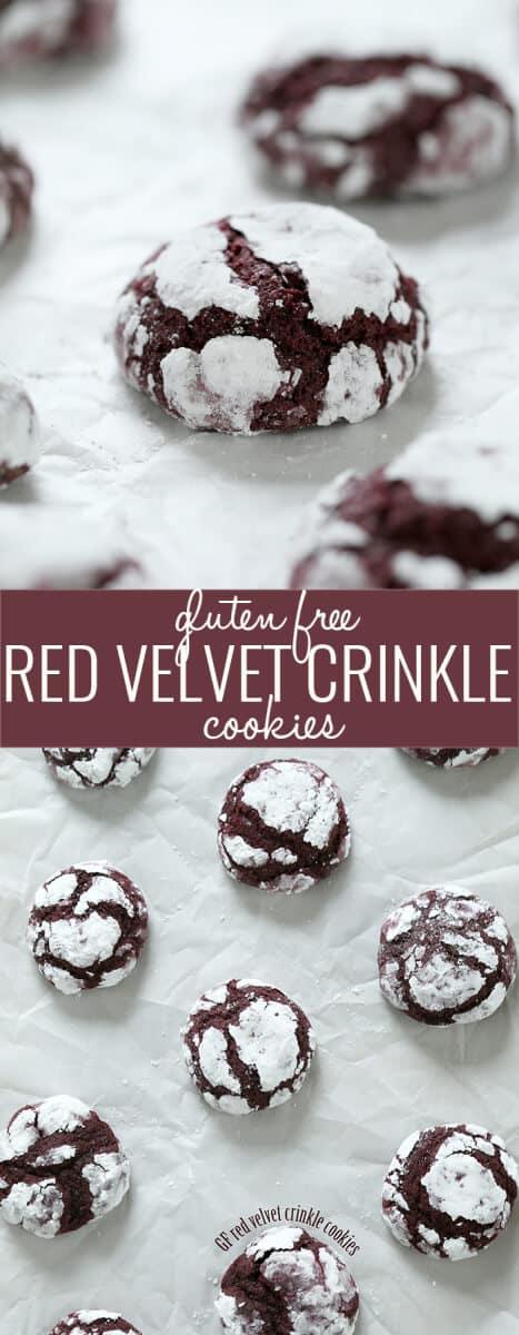 Gluten Free Red Velvet Crinkle Cookies