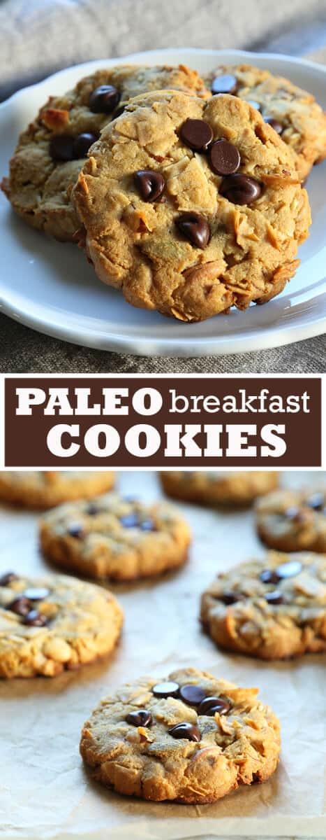 Breakfast cookies on a plate and breakfast cookies on brown paper