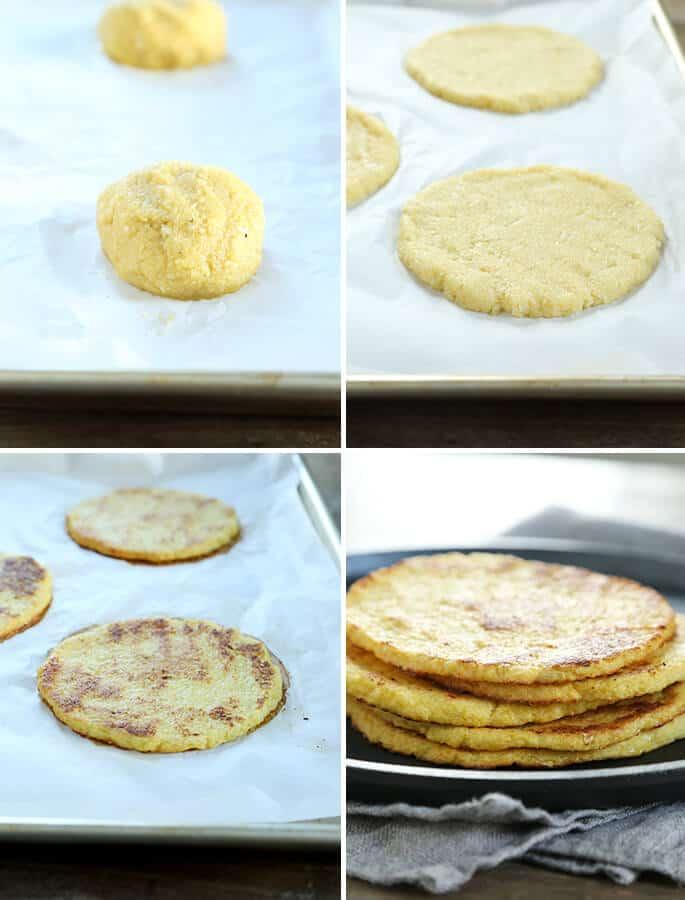 Low Carb Grain Free Cauliflower Tortillas, Step by Step
