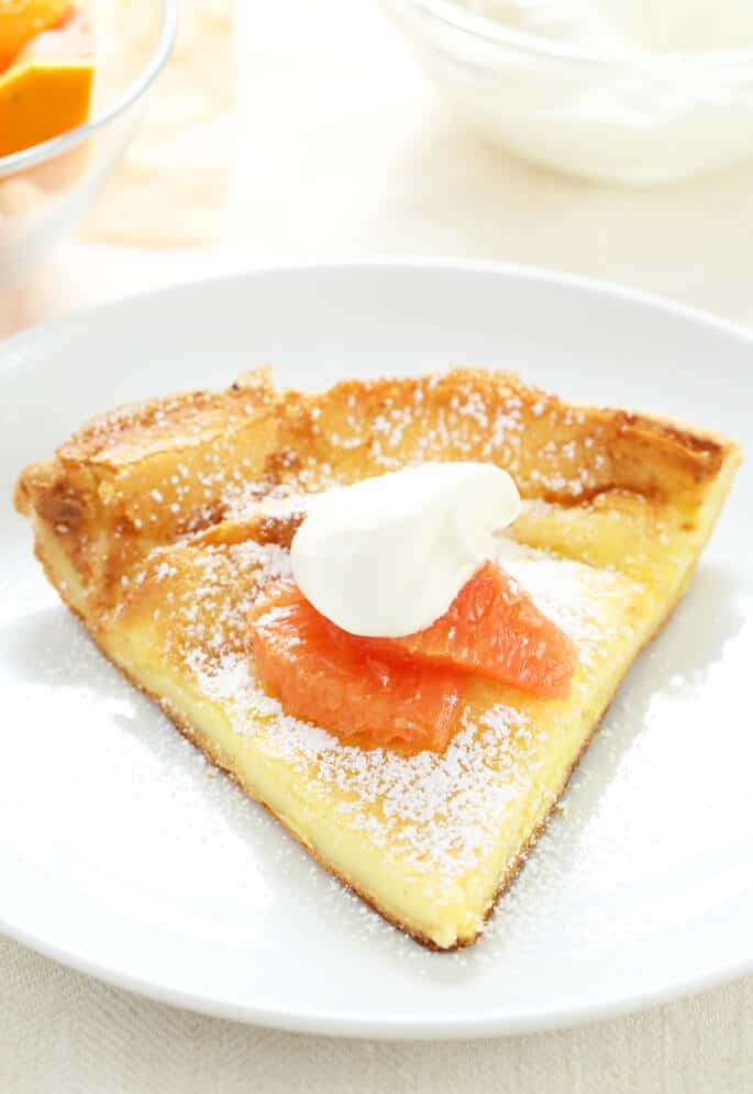 Just a few basic pantry ingredients are all it takes to make this perfect gluten free Dutch Baby, sometimes called a German Pancake. It's like a cross between a pancake and a popover, and it's ready in less than 20 minutes!