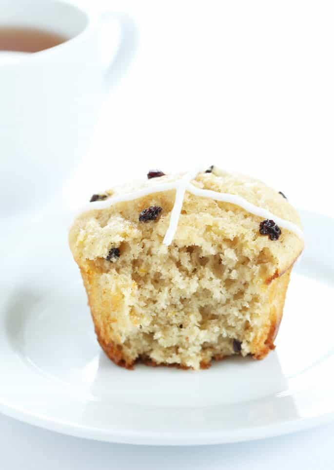 Gluten Free Hot Cross Bun Muffins