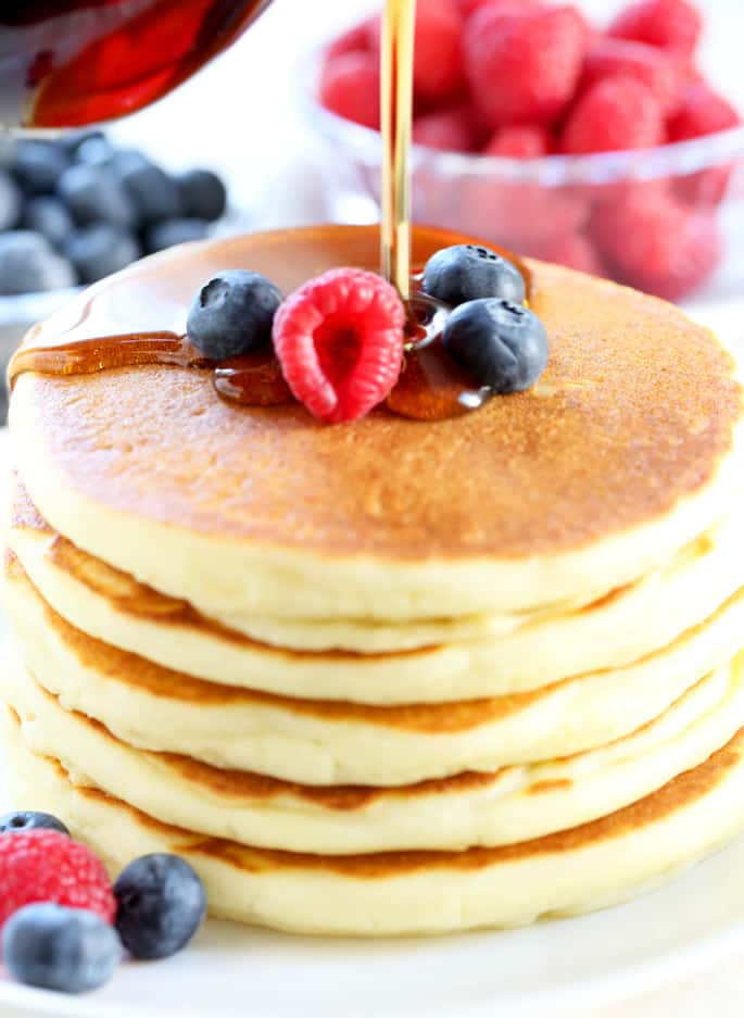 This is the classic gluten free pancake recipe you've been looking for. Light and fluffy buttermilk pancakes that you can make ahead and freeze!