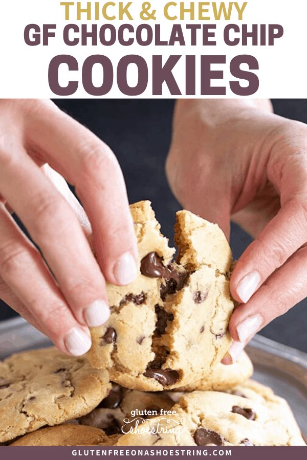A classic thick and chewy delight, these gluten free chocolate chip cookies set the standard for everything a cookie should be.