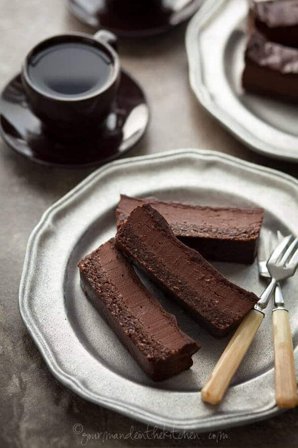 Chocolate Peppermint Silk Brownie Bars—from Gourmande in the Kitchen