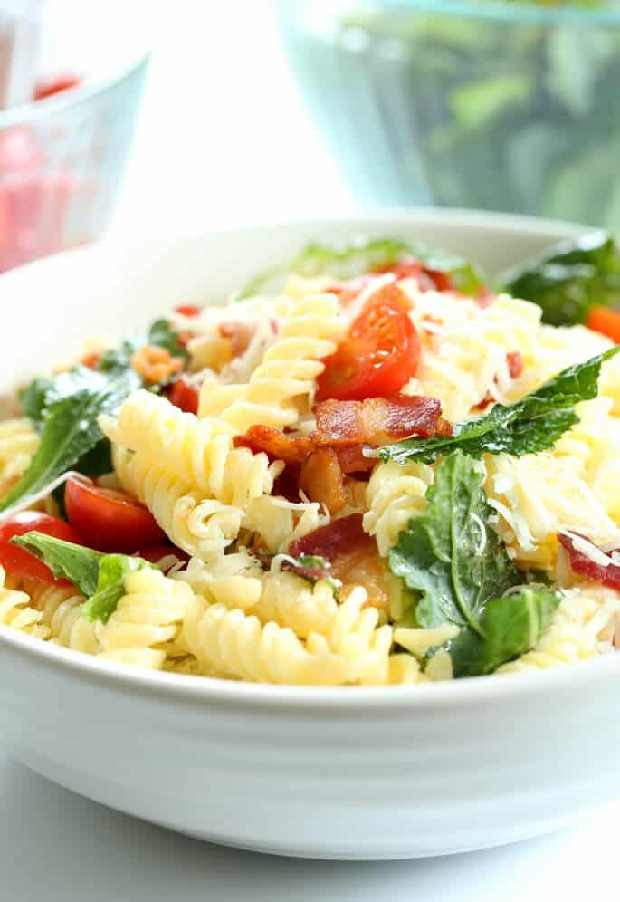 BLT Gluten Free Pasta Salad