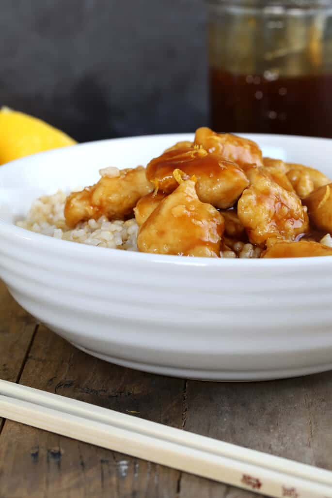 Gluten Free Chinese Style Lemon Chicken—just like take out, but better!