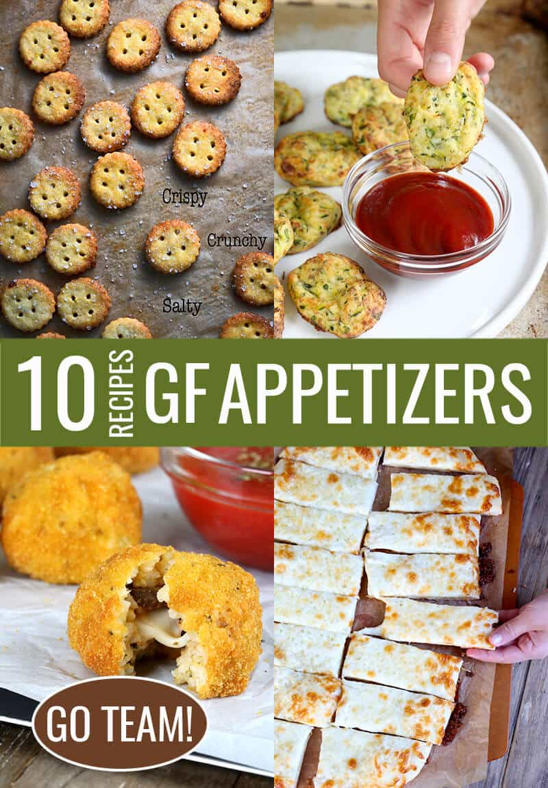 Bite-sized gluten free appetizers are perfect when you're entertaining on Game Day or any time you're eating on-the-go. Here are ten of my most favorite recipes, every one a crowd-pleaser!