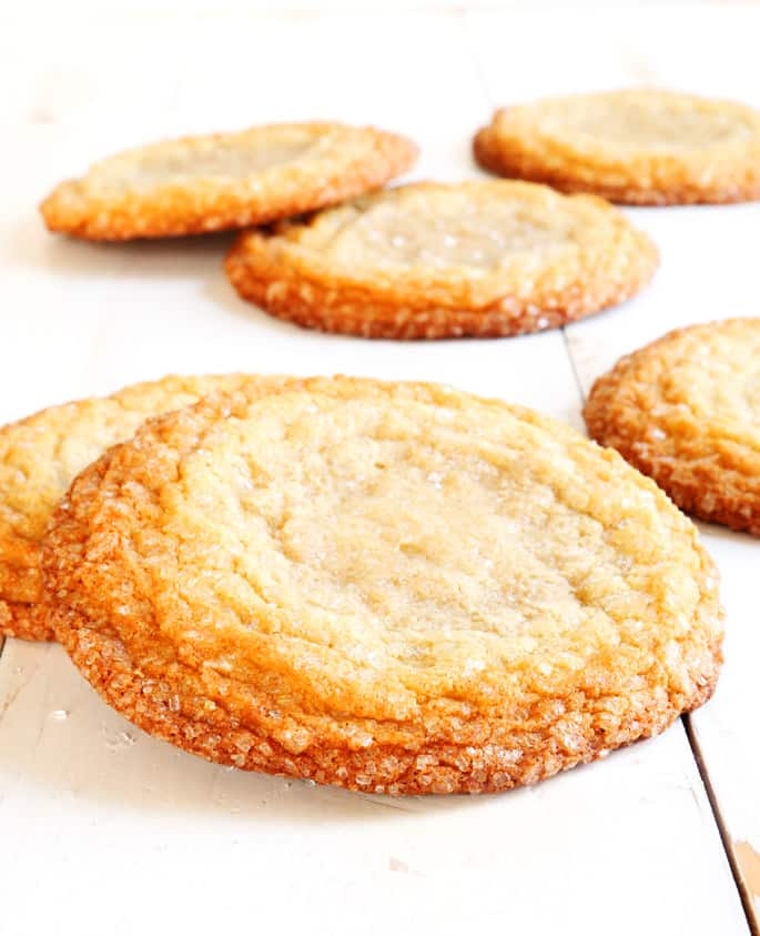 Crispy on the outside, impossibly chewy on the inside, these are New York Times-Style gluten free sugar cookies. They're unlike any other sugar cookie you've ever had. Feast your eyes, and then your belly!