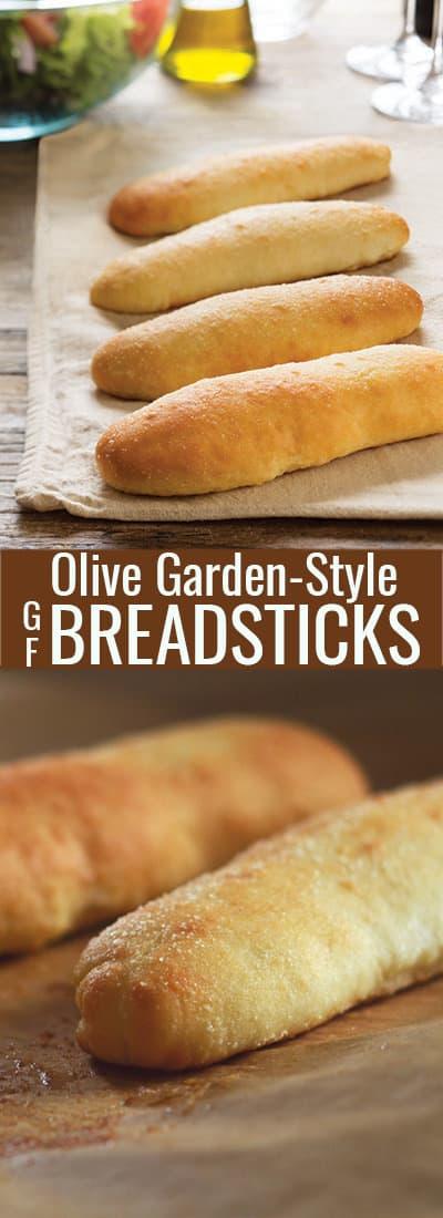 Breadsticks on a beige towel