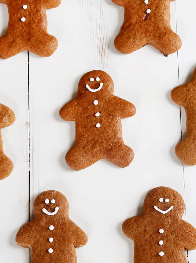 These gluten free chewy gingerbread men cookies are soft and perfectly spiced for all your holiday cookie-baking needs—or any time of year.