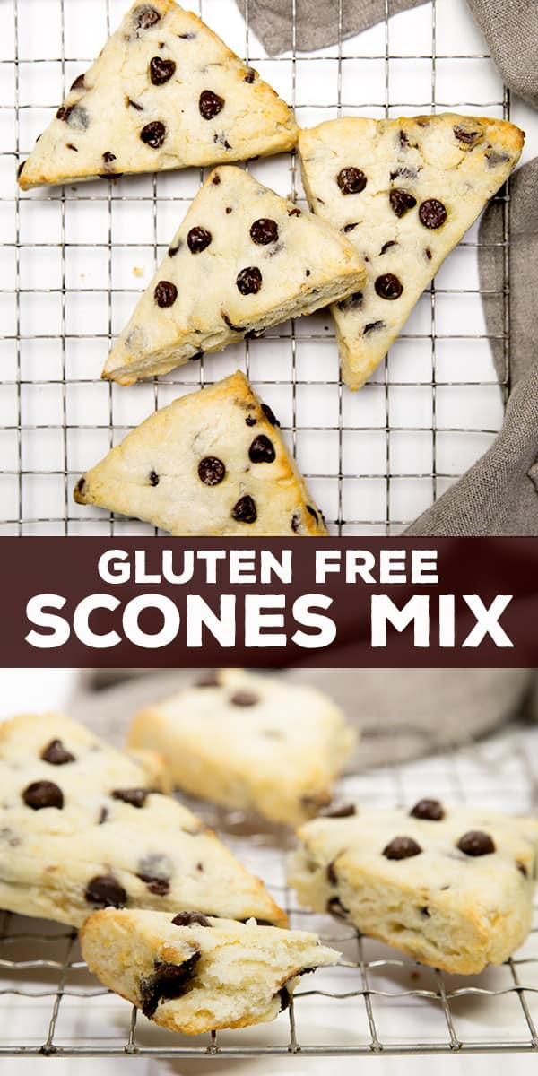 This gluten free scones mix makes quick work of the lightest, most airy pastries. Add your favorite mix-ins!