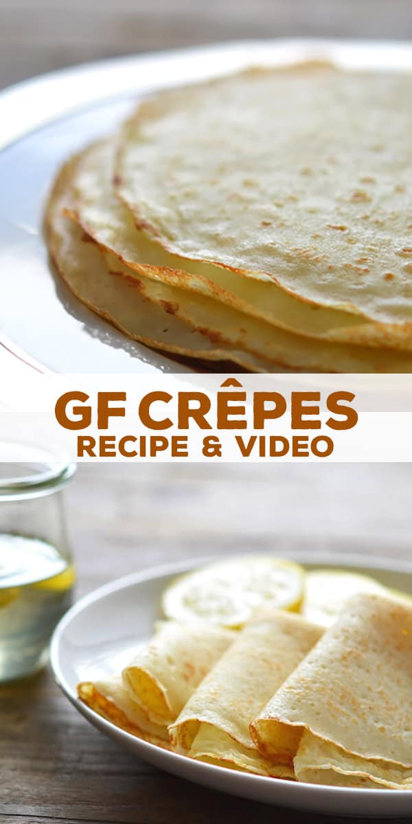 Gluten free crêpes are simple, light, French-style pancakes. Light, airy and delicate but not fragile, so easy to make with basic GF ingredients!