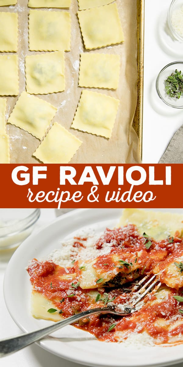 Gluten Free Ravioli with Spinach and Cheese