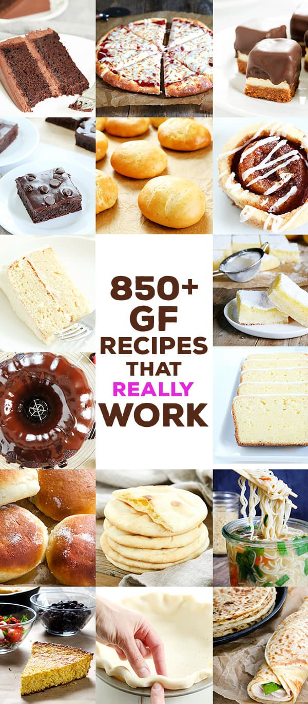 Click for more than 850 gluten free recipes that REALLY work.